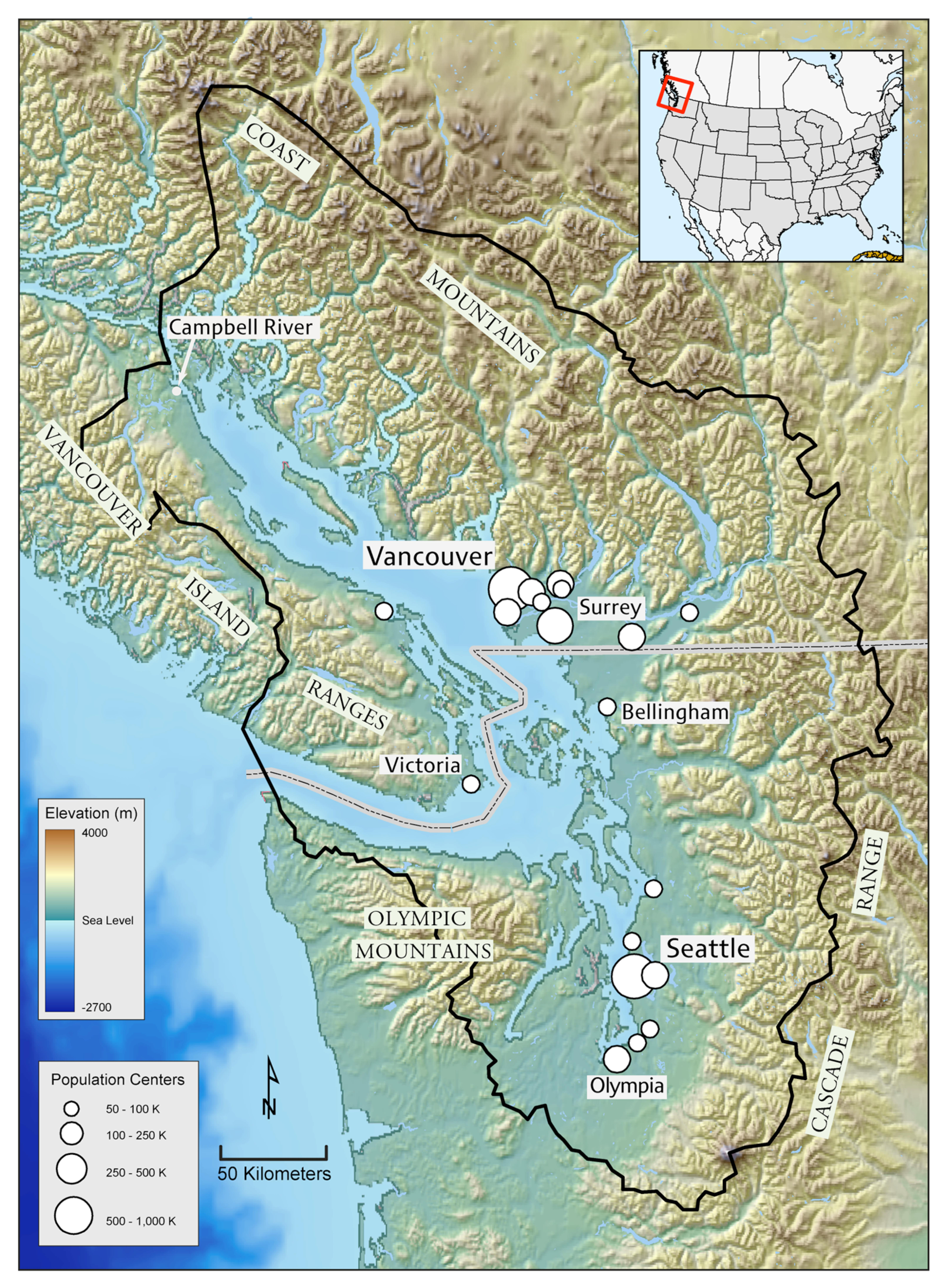 The Salish Sea Is A 17 000 Sq Km Ecosystem Consisting Of The Puget Sound